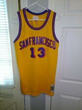 9cb2365dcb7 New Listing WILT CHAMBERLAIN 1962-1963 San Francisco Warriors NBA SWINGMAN  JERSEY GOLD Med