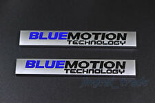 2 pcs BLUEMOTION TECHNOLOGY Logo 3D Metal Car SUV Body Fender Emblem Badge Decal