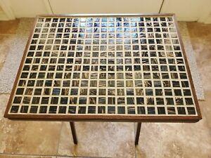5-Piece Custom Mosaic Folding Tray Table Set (4 Trays, 1 Stand) - (In Progress)