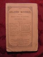 ATLANTIC December 1873 H. H. BOYESEN HENRY JAMES +++