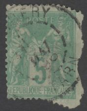 France Perf Error Bizarre and Extremely Rare !   1876 Peace and Commerce !