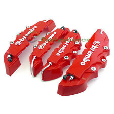 4pcs Car Brake Caliper Covers Parts Front Rear M/S 3D Car Truck Accessories Red