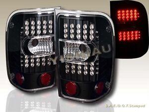 2001-2011 FORD RANGER LED L.E.D BLACK TAIL LIGHTS LEFT RIGHT REAR LAMPS ASSEMBLY