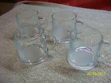 Vintage Garrick Glassware Made In France Frosted Vintage Scale Lot of 4