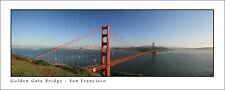 Poster Panorama Golden Gate Bridge San Francisco Panoramic Fine Art Print Photo