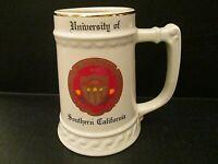 Vintage University of Southern California Trojans Ceramic Mug Stein Bunting Co