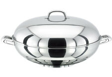 Stellar Stainless Steel Cookware pan 37cm Wok lid With Extra Wide Flat Base