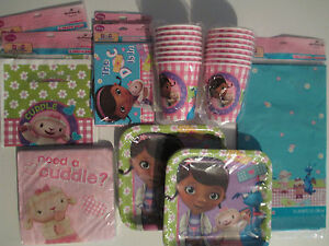DOC McSTUFFINS Disney Birthday Party Supply DELUXE Kit w/ Treat Bags & Invites
