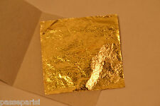 50 feuilles d' or 24 K Carats Veritable / Gold Sheets Paper pour Dorure