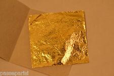 100 feuilles d' or 24 K Carats Veritable / Gold Sheets Paper pour Dorure