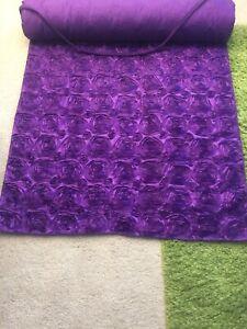 Custom Made Purple Taffeta Aisle/ Foyer Runner 59 Ft long X 36 Inches Wide