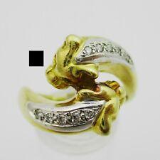 Gorgeous 18k & Diamond Panther Ring. Size R. 8.7 Grams