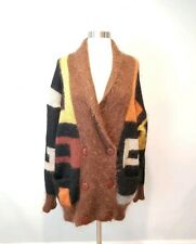 Vintage Fuzzy Knitted MOHAIR FUR JUMPER OVERSIZE SWEATER CARDIGAN M