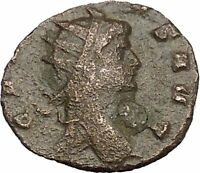 Gallienus son of Valerian I  Ancient Roman Coin Sol Sun God Globe  i50746