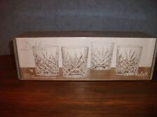 "4 - NIB - Shannon by Godinger ""Dublin"" Lead Crystal Double Old Fashioned Glasses"