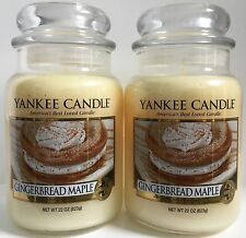Yankee Candle GINGERBREAD MAPLE 22 oz Jar Lot of 2
