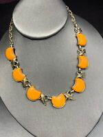 Vintage 1950's Thermoset Plastic Adjustable Necklace 1950's Hook Clasp Cantelope
