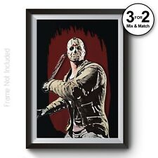 Jason Voorhees Friday the 13th Classic Horror Movie Poster Alternative Art Print
