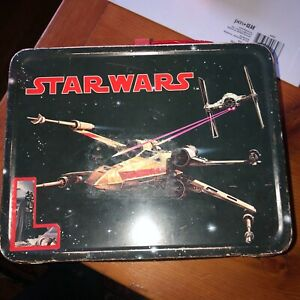 Vintage 1977 Star Wars Metal #1 Lunch Box by Thermos King Seeley no thermos
