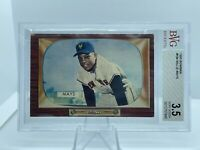 Willie Mays Card 1955 Bowman #184 BVG BGS 3.5