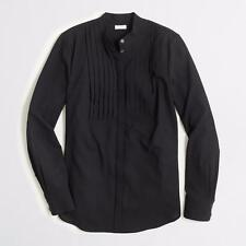 NWT $110 J CREW black Drapey Tuxedo l/sl SHIRT M