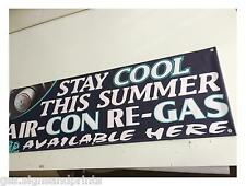 2FT X 6FT AIR CON RE-GAS PVC BANNER - GARAGE & WORKSHOP