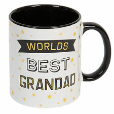 Gift Boxed White Mug with Black / Gold - Fathers Day - World's Best Grandad