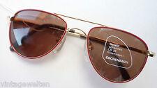 Children's Sunglasses From Eschenbach Gold/Red Pilotenform With Doppelsteg Size