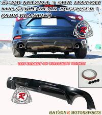 MK-Style Rear Bumper Diffuser Lip Fits 17-18 Mazda 3 5dr (Hatchback)