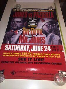 "Rare Original Vintage Roy Jones Jr.vs.Vinny Pazienza Boxing Fight Poster 27""x40"""