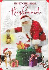 HUSBAND CHRISTMAS CARD****TRADITIONAL SANTA*****  (C6)