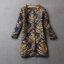 Fashion Embroidered autumn winter Floral women wool coat jacket trench outwear