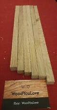 🍁6 x Oak Hardwood Off cuts Sticks L varies x W 13 - 15 mm Square (2122 W6)