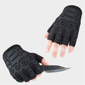 Tactical Half Finger Gloves Army Military Combat Assault CS Airsoft Work