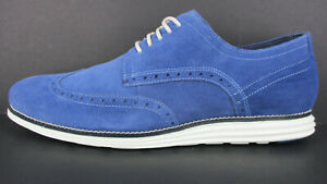CLEARANCE!!! COLE HAAN ORIGINAL GRAND WINGTIP OXFORD NAVY MEN'S NEW WITH BOX