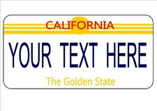 Personalised Birthday Gift, Novelty Number Plates California Licence Plate