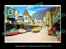 OLD 8x6 HISTORIC PHOTO OF JUNEAU ALASKA THE MAIN STREET & STORES c1970