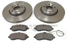 PEUGEOT EXPERT 1.6 2.0 HDi 07-16 FRONT 2 BRAKE DISCS AND PADS (CHECK SIZE 304MM)