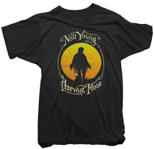 Neil Young Official T-Shirt - Neil Young Harvest Moon Tee - Mens