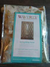 "Waverly Spring Bling Back Tab Panel Platinum 52""x84"""