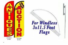 Antiques Auction Windless Swooper Flag With Complete Kit