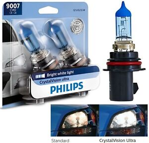 Philips Crystal Vision Ultra 9007 HB5 65/55W Two Bulbs Head Light H/L Upgrade OE