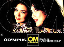 Olympus Om Camera Flash Photography Instruction Manual T-45-T32-T20-late 1980s