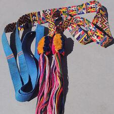 an old antique hand woven cotton cinta head wrap band guatemala #12
