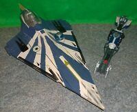 Star Wars ROTS Plo Koon's Jedi Starfighter + Speeder Bike Lot - Used