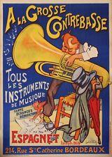 Original Vintage Poster - Laumond - A la grosse contrebasse - Music instruments