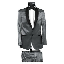 SLIM FIT tuta uomo in satin rosso-smoking-vestito-matrimonio palco-Paulino