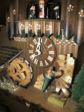 Nice German Black Forest Animated Clock Peddler Musical Cuckoo Clock - See Video