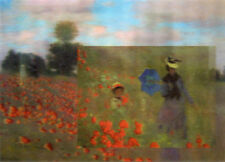 Claude Monet 2 paintings in 1 -3D & Animated Lenticular Postcard  Greeting Card