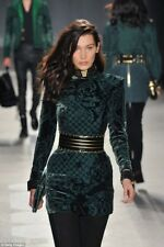 Balmain x H&M Green Velvet Dress UK Size 4 EUR 34